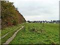 TQ2257 : Path along wood edge, Walton Downs by Robin Webster