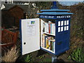 NT2576 : Little Free Library at Starbank Park - detail by M J Richardson