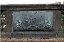 SO8454 : Old Bridge Marker by Milestone Society