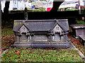 SO0328 : Distinctive gravestone in St David's Churchyard, Llanfaes, Brecon by Jaggery