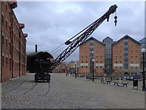 SO8218 : Steam crane, North Quay, Gloucester Docks by Rudi Winter