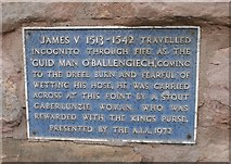 NO5603 : Blue plaque, Dreel Tavern by Richard Sutcliffe