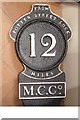 ST2788 : Old milemarker by Milestone Society