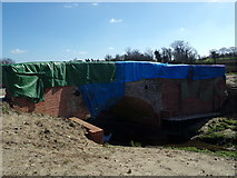 TM3669 : Bridge to Sibton Abbey Ruins by Adrian Cable