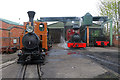 SK2406 : Statfold Barn Railway - four on shed by Chris Allen