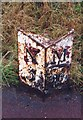 NZ2471 : Old Milepost by IA Davison