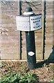 SJ8841 : Old milemarker by Milestone Society