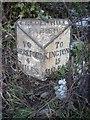 SO4643 : Old Milepost by Robert Walker