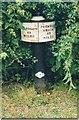 SJ8255 : Old milemarker by Milestone Society
