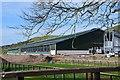 NT1345 : New agricultural building, Blyth Bridge by Jim Barton