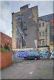 SJ8498 : War Children Mural on Manchester's Northern Quarter by David Dixon
