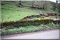 NY6825 : Eller Beck seen over SW parapet of Ellerbeck Bridge by Roger Templeman
