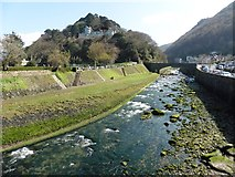 SS7249 : River Lyn at Lynmouth by Roger Cornfoot