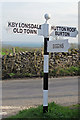 SD6078 : Old Direction Sign - Signpost south of Kirkby Lonsdale by Milestone Society