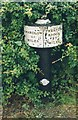 SJ7858 : Old Milemarker by the Trent and Mersey Canal, Hassall Green by Milestone Society