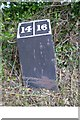 SK3802 : Old milemarker by the Ashby Canal by Milestone Society