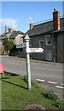 ST3011 : Old Direction Sign - Signpost in Combe St Nicholas by Milestone Society