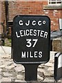 SP6989 : Canal Milemarker by Foxton Locks by Milestone Society