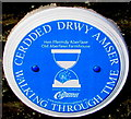 ST1289 : Old Aberfawr Farmhouse blue plaque, Aberfawr Road, Abertridwr by Jaggery