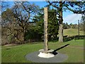 NS4276 : New totem pole at Overtoun House by Lairich Rig