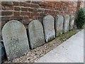 SU6089 : Headstones by the wall by Bill Nicholls