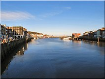 NZ8911 : River Esk at Whitby by Gerald England