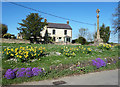 SP3115 : Spring Flowers by the Cross by Des Blenkinsopp