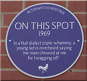 TA0727 : Alternative Heritage Blue Plaque by Ian S