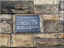 SE2933 : Plaque relating to canal mileposts  by Stephen Craven