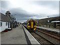 NC7201 : A class 158 train departing from Rogart Station by John Lucas