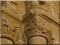 SE2740 : St John's church, Adel - chancel arch (detail) by Stephen Craven