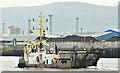 """J3575 : The """"Norma"""", Belfast harbour (April 2019) by Albert Bridge"""