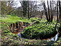 SO8398 : Nurton Brook meander east of Pattingham, Staffordshire by Roger  Kidd