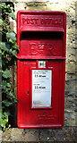 SO5793 : Close up, Elizabeth II postbox, Brockton by JThomas