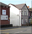 ST1289 : Little Care Break name sign, Thomas Street, Abertridwr by Jaggery
