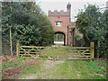 TL2321 : Archway between the North Lodges, Knebworth Estate by Humphrey Bolton