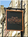 NY9864 : Sign for The Wheatsheaf, St. Helen's Street, NE45 by Mike Quinn