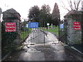 ST2896 : Entrance to Holy Trinity Church churchyard, Pontnewydd, Cwmbran by Jaggery
