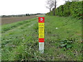 "TF8903 : ""No dig"" notice on field headland by Adrian S Pye"