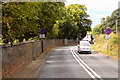 SX9985 : A376, Exmouth Road, approaching Exton by David Dixon