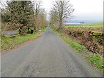 NR8261 : Road (B8001) at Bluebell Cottage, Redhouse by Peter Wood