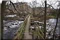 SK2083 : Footbridge over the River Derwent by Ian S