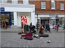SU9949 : Buskers in the High Street by Basher Eyre