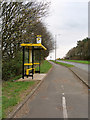 SJ4898 : Bus Stop and Shelter on the Rainford Bypass (A570) by David Dixon