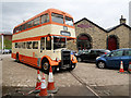 SD8010 : Preserved Bus outside the Castlecroft Goods Warehouse by David Dixon