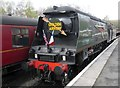 NZ8205 : City  of  Wells  34092  changing  ends  at  Grosmont  station by Martin Dawes