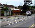 ST2687 : Bus stop and shelter, Caerphilly Road, Rhiwderin by Jaggery