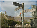 SY9681 : Footpath signpost, Corfe Castle by Derek Harper