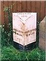 SJ8870 : Old Milepost by Milestone Society