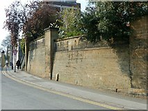 SK5639 : Retaining wall to St Mary's Vicarage and St Peter's Rectory, Lenton Road by Alan Murray-Rust